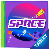 Space Coloring Book, tablet