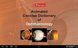 Screenshot of Ophthalmology- Dictionary