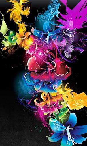Neon Flower wallpaper