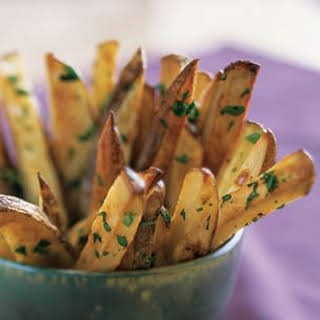 Roasted Russet Potatoes with Parsley and Garlic.