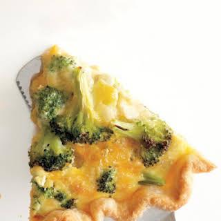 Broccoli-Cheddar Quiche.