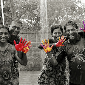 holi - festival of colour by Amol Patil - People Street & Candids ( love, colour, gamee, festval, couple, holi, fun )