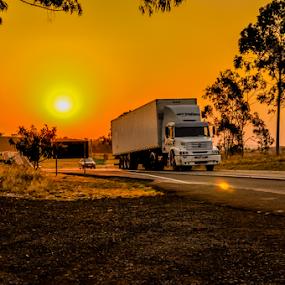 Sunset BR by Thiago Silva - Transportation Roads ( cars road sunset )