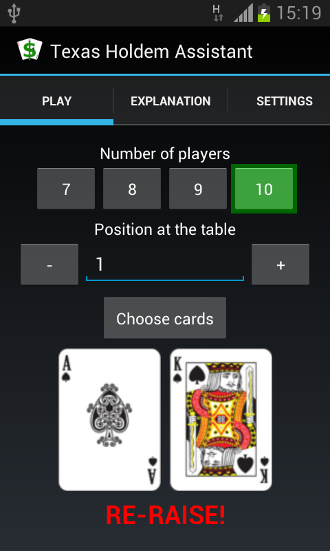 Texas Holdem Assistant - screenshot