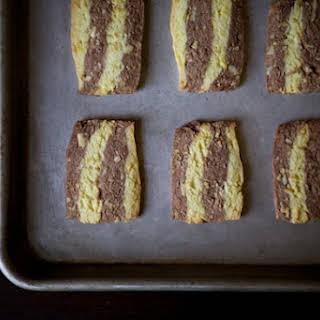 Cardamom,Orange and Chocolate Ribbon Cookies.