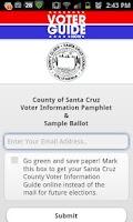 Screenshot of Santa Cruz County Voter Guide
