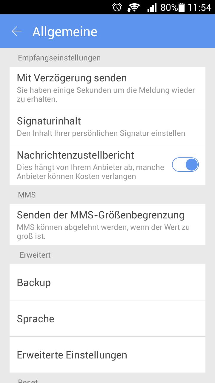GO SMS Pro German language pac screenshot #1