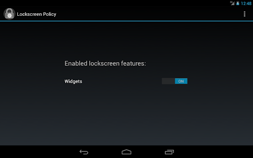Lockscreen Policy (<= KitKat) – Miniaturansicht des Screenshots