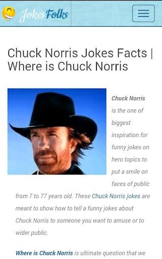 Chuck Norris jokes facts