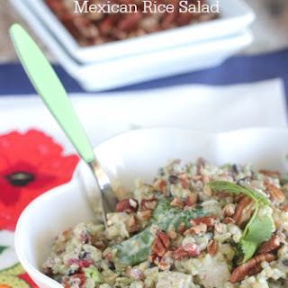Chicken Pecan Mexican Rice Salad.