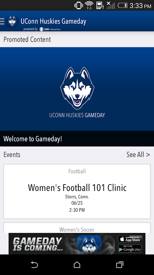 UConn Huskies Gameday LIVE - screenshot
