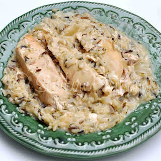 Slow Cooker Chicken and Wild Rice.
