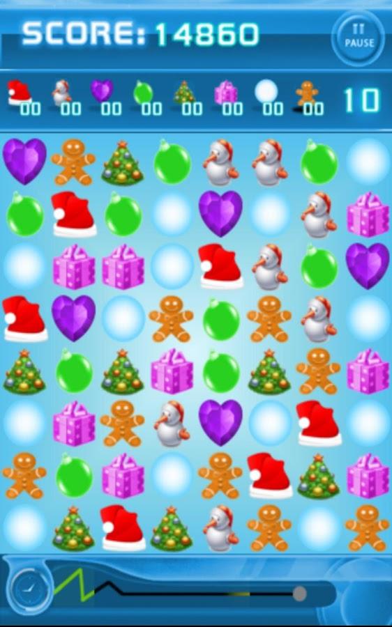 Jewels Space: Christmas Free - screenshot