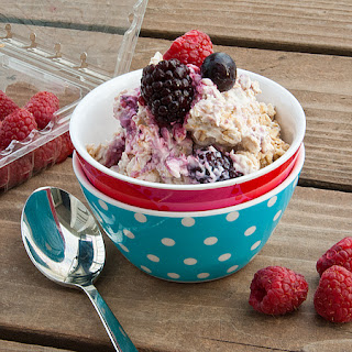 No Cook Berry Oatmeal.