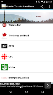 Greater Toronto Area News- screenshot thumbnail