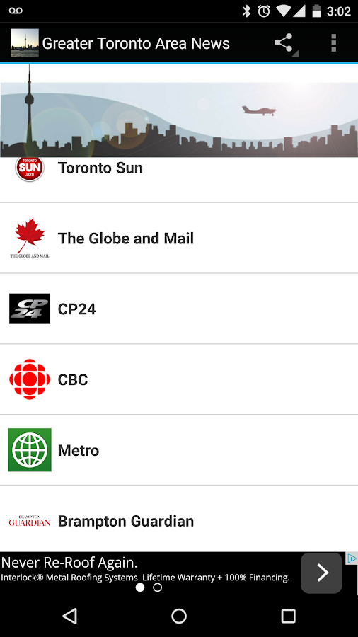 Greater Toronto Area News- screenshot