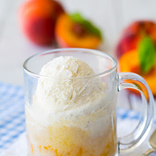 Peach Cobbler Mug Cake {5 Minute Recipe}