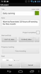 Goal tracker: SmartGoals Demo - screenshot thumbnail