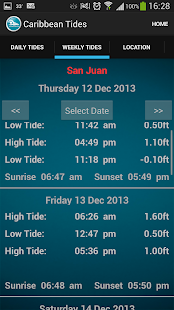 Caribbean Tide Times - screenshot thumbnail
