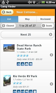 Camp Finder - Campgrounds - screenshot thumbnail