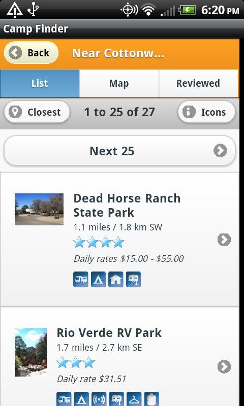 Camp Finder - Campgrounds - screenshot