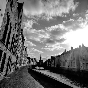 You HAVE to start in Bruges! by Ethan Fox Miles - City,  Street & Park  Street Scenes ( europe, street, buildings, stone, bruges, movie, scene, belgium, architecture, travel )
