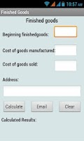 Screenshot of Finished Goods Calculator