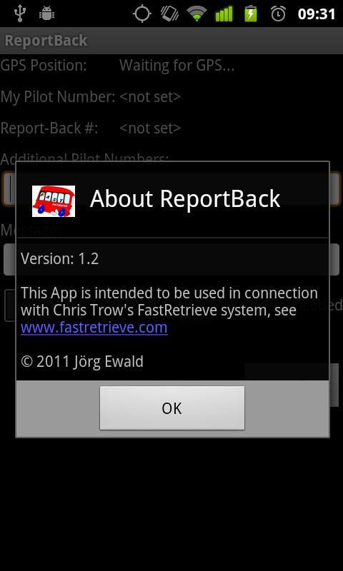 FastRetrieve ReportBack- screenshot