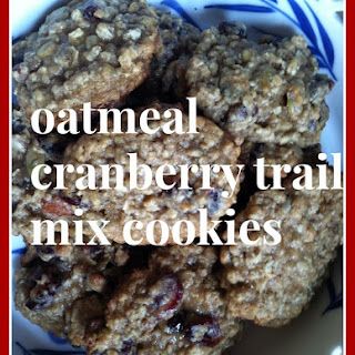 Oatmeal Cranberry Trail Mix Cookies