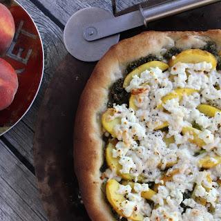 Peach & Pesto Pizza
