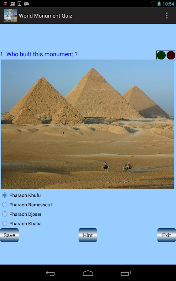 World Monument Quiz- screenshot