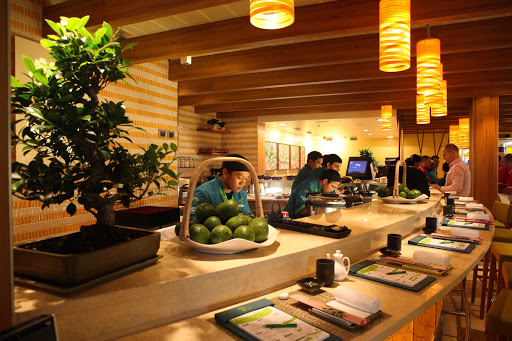 Carnival-Cruise-Lines-dining-Bonsai-Sushi-restaurant - For a change of pace, head to Carnival's Japanese Bonsai Sushi restaurant.