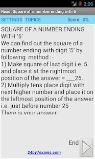 Vedic Math Tricks - 24by7exams- screenshot thumbnail