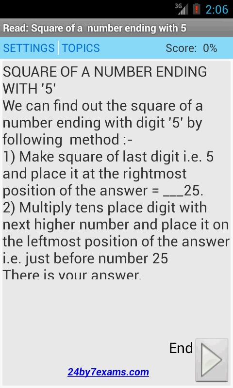 Vedic Math Tricks - 24by7exams- screenshot