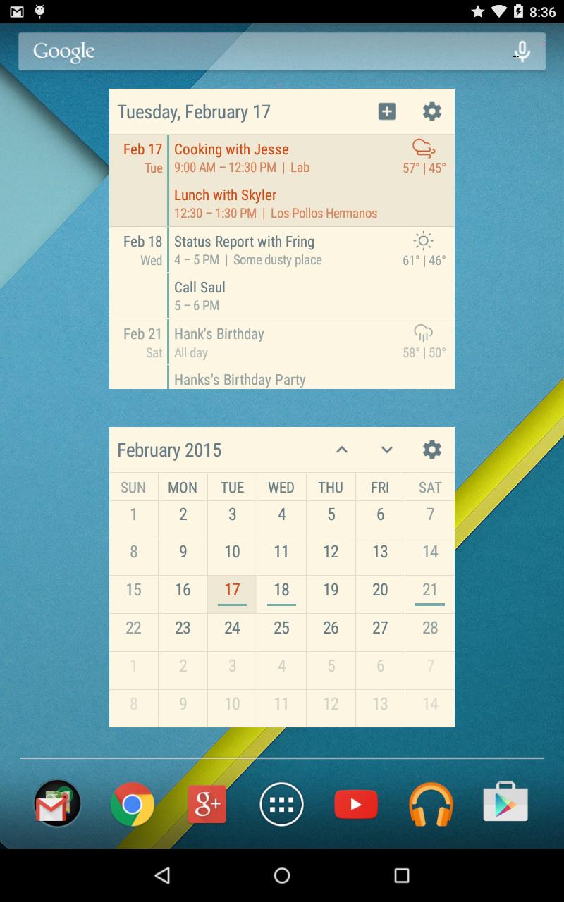 Event Flow Calendar Widget Screenshot 9