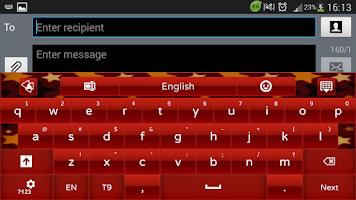Screenshot of Red Star GO Keyboard theme