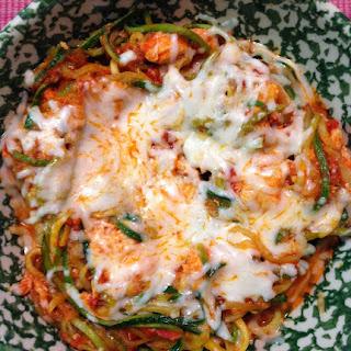 Zucchini Spaghetti & Chicken Parmesan