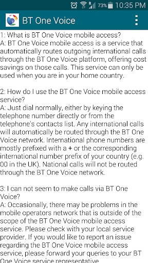BT One Voice mobile access