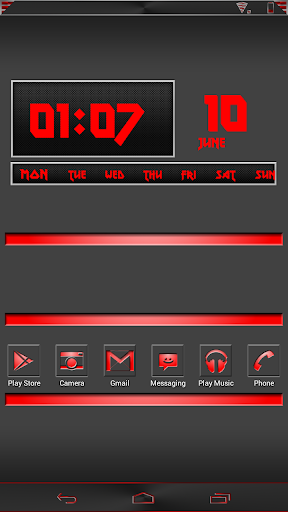 Carbon Red Clock UCCW Skin