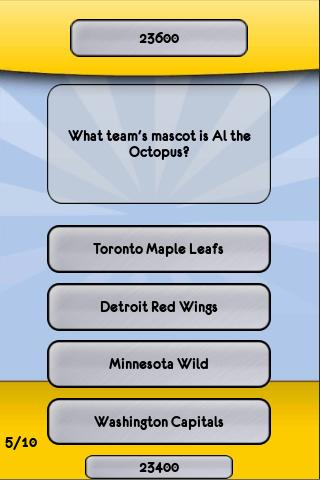 NHL Hockey Trivia - screenshot