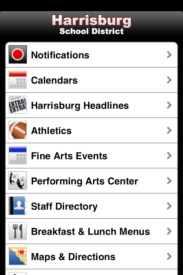 Harrisburg School District- screenshot