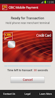 Screenshot of CIBC Mobile Payment™ App