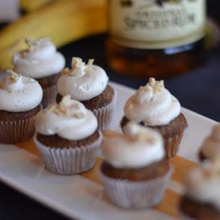 Boozy Bananas Foster Mini Cupcakes