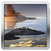 F18 Hornet Airforce Clock LWP