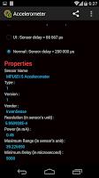 Screenshot of Sensors Overview