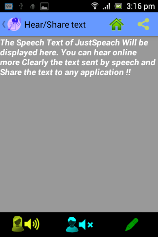JustSpeak - screenshot