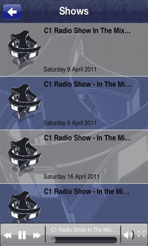 C1 Radio Show - screenshot