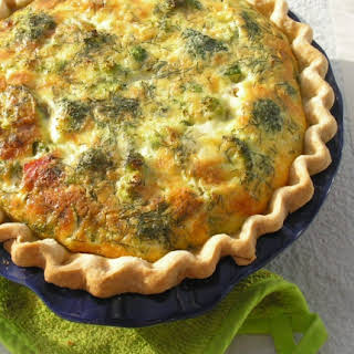 Weight Watchers Broccoli and Cheddar Quiche.