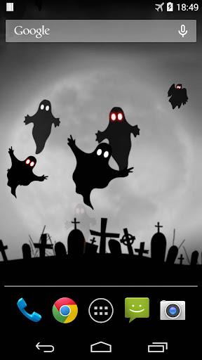 ハロウィンの幽霊ライブ壁紙