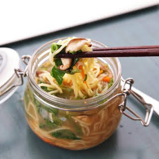 DIY Instant Noodles With Vegetables and Miso-Sesame Broth.